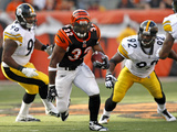 Steelers Bengals Football: Cincinnati, OH - Cedric Benson Photographic Print by Ed Reinke