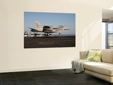 A Us Navy F/A-18C Hornet Prepares to Land Aboard Uss Eisenhower Wall Mural by  Stocktrek Images