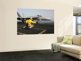 A Shooter Launches an F/A-18E Super Hornet from Uss Dwight D Eisenhower Wall Mural by  Stocktrek Images