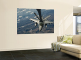 A U.S. Air Force F-16C Block 50 Fighting Falcon Receives In-Flight Refueling Premium Wall Mural by  Stocktrek Images