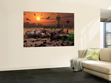Artist's Concept of a Science Fiction Alien Landscape Wall Mural by  Stocktrek Images