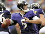 Browns Ravens Football: Baltimore, MD - Joe Flacco Photographic Print by Gail Burton