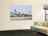 A Portuguese Air Force P-3C Cup Orion Wall Mural by  Stocktrek Images