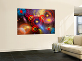 Artist's Concept of Planets and Stars Mixed Together in an Ever-Changing Nebula Wall Mural by  Stocktrek Images