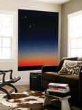 Venus, Mercury and Mars Above the Glowing Horizon at Dawn Wall Mural by  Stocktrek Images