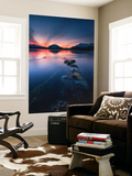 Sunset over Tjeldsundet, Troms County, Norway Wall Mural by  Stocktrek Images
