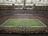 Dolphins Falcons Football: Atlanta, GA - The Georgia Dome Photographic Print by John Amis
