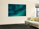 Aurora Borealis over Sandstrand, Troms County, Norway Wall Mural by  Stocktrek Images