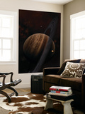 Artist's Concept of a Ringed Gas Giant and its Moons Wall Mural by  Stocktrek Images