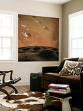 Phobos Orbits So Close to Mars That the Planet Would Fill the Little Moon's Sky Wall Mural by  Stocktrek Images