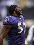Broncos Ravens Football: Baltimore, MD - Ray Lewis Photographic Print by Nick Wass