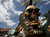 Cowboys Buccaneers Football: Tampa, FL - The Pirate Ship Poster by Brian Blanco