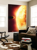A Growing Sun About to Burn a Nearby Planet Wall Mural by Stocktrek Images 