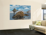 A Group of Spinosaurus Wall Mural by  Stocktrek Images
