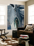 A U.S. Air Force F-16C Fighting Falcon Receives In-Flight Refueling Wall Mural by  Stocktrek Images