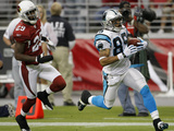 Panthers Cardinals Football: Glendale, AZ - Steve Smith Photographic Print by Matt York