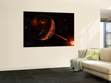A Scene Portraying the Early Stages of a Solar System Forming Wall Mural by  Stocktrek Images