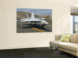 An F/A-18E Super Hornet Trap Landing on the Flight Deck of Uss Harry S. Truman Wall Mural by  Stocktrek Images