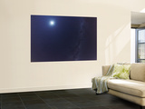 The Moon and the Milky Way in an Ultra Widefield of View Wall Mural by  Stocktrek Images