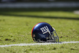 Giants Chiefs Football: Kansas City, MO - New York Giants Helmet Photographic Print by Jeff Roberson