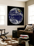 Satellite Image of Earth Centered over the Pacific Ocean Wall Mural by  Stocktrek Images