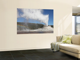 Castle Geyser Eruption, Upper Geyser Basin Geothermal Area, Yellowstone National Park, Wyoming Wall Mural by  Stocktrek Images