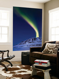 An Aurora Borealis Shooting Up from Toviktinden Mountain, Norway Wall Mural by  Stocktrek Images