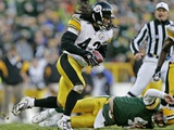STEELERS PACKERS: GREEN BAY, WISCONSIN - Troy Polamalu Fotografisk trykk av Morry Gash