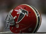 Panthers Falcons Football: Atlanta, GA - A 1966 Falcons Throwback Helmet Photographic Print by Dave Martin