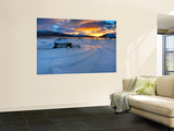 A Winter Sunset over Tjeldsundet at Evenskjer, Troms County, Norway Wall Mural by  Stocktrek Images