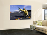 A Shooter Signals the Launch of an F/A-18 Super Hornet Wall Mural by Stocktrek Images