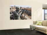 A U.S. Army Soldier Looks Through the Scope of His M-14 Sniper Rifle Wall Mural by  Stocktrek Images