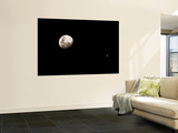 Earth's Moon and Jupiter Separated by Six Degrees Wall Mural by  Stocktrek Images