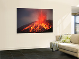 Explosive Vulcanian Eruption of Lava on Sakurajima Volcano, Japan Wall Mural by  Stocktrek Images