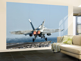 A F/A-18F Super Hornet Launches from the Flight Deck of Aircraft Carrier Uss Nimitz Wall Mural – Large by  Stocktrek Images