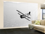 A Grumman F3F Biplane in Flight Wall Mural – Large by  Stocktrek Images