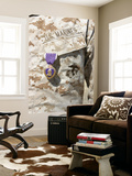 The Purple Heart Award Hangs over the Heart of a U.S. Marine Wall Mural by Stocktrek Images 