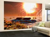 A Distant Alien World That Orbits Close to its Sun Wall Mural  Large by Stocktrek Images 