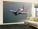 A Grumman F8F Bearcat in Flight Wall Mural – Large by  Stocktrek Images