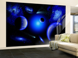 Blue Stars are Amongst the Youngest of the Stars in the Universe Wall Mural – Large by  Stocktrek Images