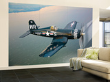 A Vought F4U-5 Corsair in Flight Wall Mural – Large by  Stocktrek Images