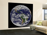 Full Earth Showing North America and South America Wall Mural – Large by  Stocktrek Images