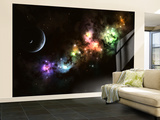 Artist's Concept of Planet Carenteen, a Dwarf Planet Host to Beautiful Night Skies Wall Mural – Large by  Stocktrek Images