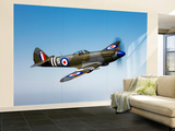 A Supermarine Spitfire MK-18 in Flight Wall Mural – Large by  Stocktrek Images