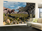 A Confrontation Between a T. Rex and a Spinosaurus Dinosaur Wall Mural – Large by  Stocktrek Images