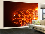 Lava Lake in Summit Caldera, Nyiragongo Volcano, Democratic Republic of the Congo Wall Mural – Large by  Stocktrek Images