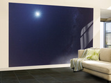 The Moon and the Milky Way in an Ultra Widefield of View Wall Mural – Large by  Stocktrek Images
