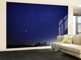 A Wide Field Composite Showing the Moon Against the Stars Wall Mural – Large by  Stocktrek Images