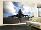 A U.S. Air Force Maintenance Crew Performs Post Flight Checks on a B-52 Stratofortress Wall Mural – Large by  Stocktrek Images