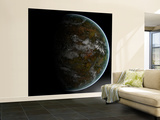 A Partially Lit Terrestrial World Wall Mural – Large by  Stocktrek Images